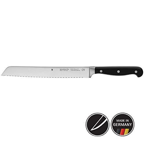 WMF Spitzenklasse Plus Brotmesser, mit Doppelwellenschliff 31,5 cm, Spezialklingenstahl, Messer geschmiedet, Performance Cut, Kunststoff-Griff vernietet, Klinge 20 cm