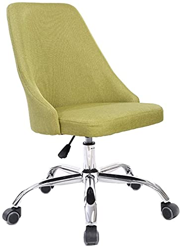 KMatratze Silla giratoria de Tela de Muebles, Silla ergonómica de la Oficina de la Oficina de la Oficina, Silla de Oficina Alta tapizada Ajustable para Ocio (Color : Green)
