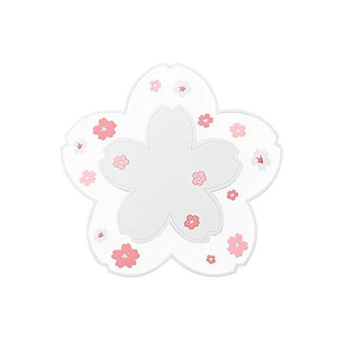 LVTONG Portavasos Japón Estilo Cerezo Flor de Calor Aislamiento de la Mesa de la Tabla de la Oficina de la Familia Antideslizante Taza Taza Taza Taza de café Taza de café Coaster portavasos Carton