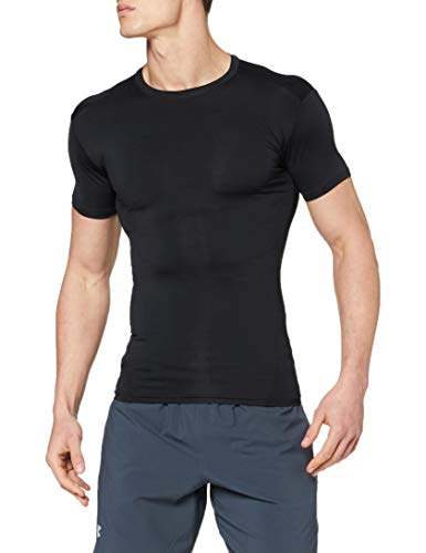 Under Armour Men's HeatGear Tactical Compression Short-Sleeve T-Shirt , Black (001)/Clear , Large