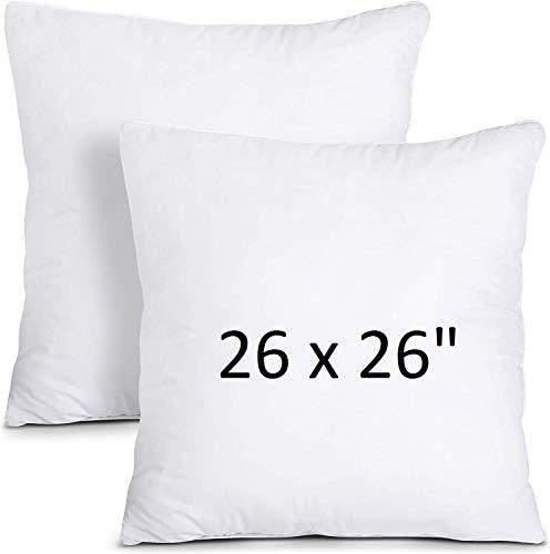 mFabrics Hypoallergenic Cushion Pad Insert 26' x 26' | Hollowfibre Stuffed Square Pillows, Cushion Inner | Polypropylene Cover 66 CM (1)
