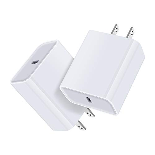 USB C Charger, 18W PD Power Adapter Fast USB C Charger Block Plug Compatible iPhone 12 11 Pro Max X XR SE 8+ iPad Pro Airpods Pro Samsung Galaxy Note 20 9 Plus S20 Ultra S10 A51 A71 Pixel 4 3 XL 3a