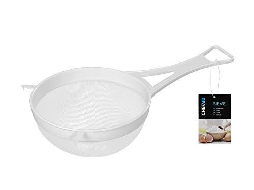 Chef Aid 10K32950 - Scolapasta in plastica con Rete in Nylon, Colore: Bianco