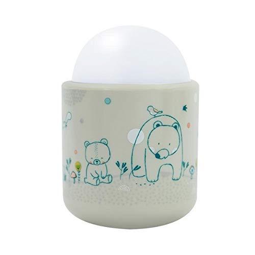 Veilleuse Portable pour Bébé et Enfant - Lumière Douce à LED - Lampe Nomade : 70 heures d'autonomie sans pile ni fil - Rechargeable sur Prise - Dans les bois - Pabobo x Kid Sleep