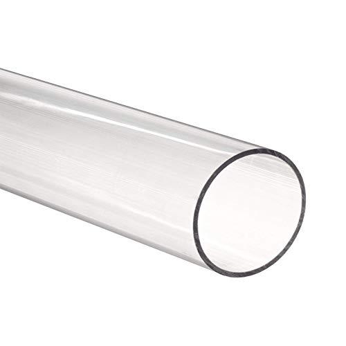 Zerobegin Transparente Kunststoffrohr, Plexiglas-Schlauch, leicht zu schneiden/Arbeit, für Industrie, Arbitrary DIY Fertigkeit-Projekt, 5Pcs, 200mm,50mm*40mm