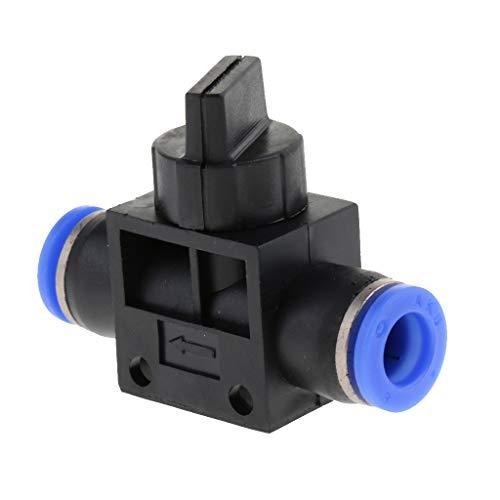 Amagogo Conector Neumático de 4 Mm, 12 Mm, Aire Comprimido, Acoplamiento Rápido, Empuje Hacia Adentro - Negro, Tamaño de montaje de 8 mm