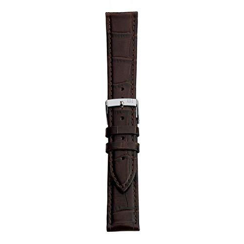 Morellato Correa de Reloj Unisex, Colección Easy Click, Mod. Bolle, de Cuero auténtico de Becerro - Grano aligátor - A01X5203480