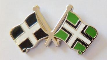 Cornwall County Flagge & Devon County Flagge Freundschaft Höflichkeit Pin Badge