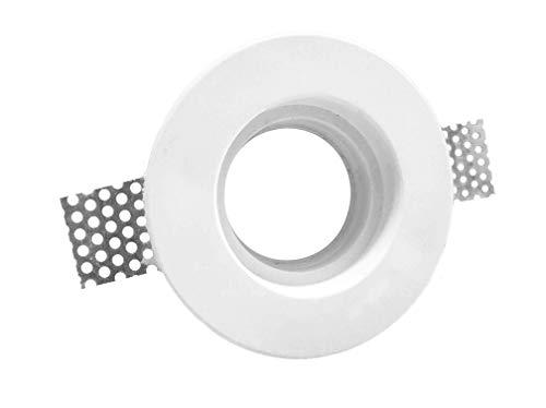 Porte spot en plâtre céramique à démontée PF6 Lot de 10 pièces + ressort blocage ampoule