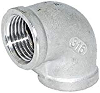 "90 Degree Elbow Class 150#, Stainless Steel SS316 Material, 1 1/4"" NPT Female"