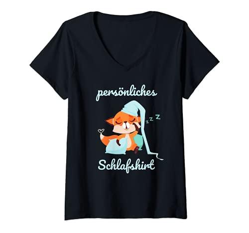 Mujer Pijama oficial de mi personalidad. Camiseta Cuello V