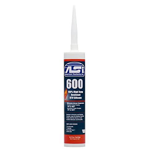 ASI Hi-Temp RED RTV High Temperature Silicone Sealant FDA Rated Food Contact Safe BBQ Smoker HVAC Gasket 10.2 OZ