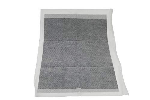 Alfombrillas absorbentes para perros, 33 x 45 cm, con carbón activo, paquete económico de 100 unidades, alfombrillas higiénicas desechables para jaula