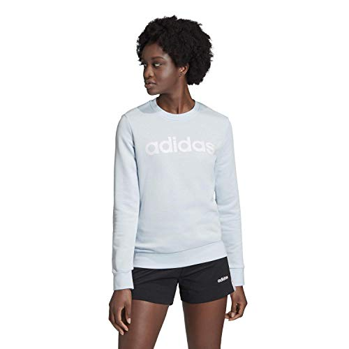 adidas Essentials Linear Crewneck - Traje de Nieve para Mujer, Color Blanco, Talla XL