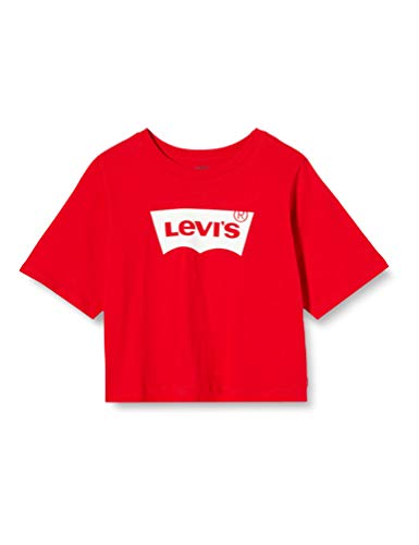 Levi's Kids Lvg Light Bright Cropped Top T-Shirt Fille - Rouge (Super Red) - 12 ans Rouge 12 ans