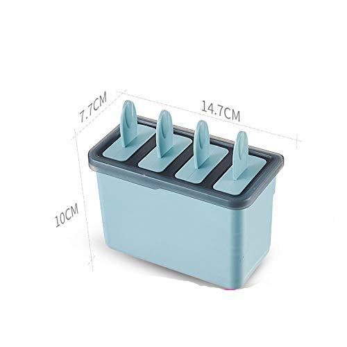 IJsblokjesvorm om zelf te maken, herbruikbaar, ijsschimmel, ijsschimmel, creatieve ijskist voor thuis en kinderen, met pop-vormen Blue-4pcs