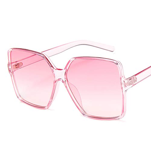 AdronQ Moda Mujer Gafas De Sol De Gran Tamaño Gradiente Plástico Diseñador De La Marca Mujer Gafas De Sol Uv400 Lentes De Sol Mujer