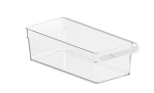 Rotho Loft Kühlschrank Organizer, Kunststoff (SAN), transparent, Gr. M: 3,1 l (31 x 14 x 9 cm)