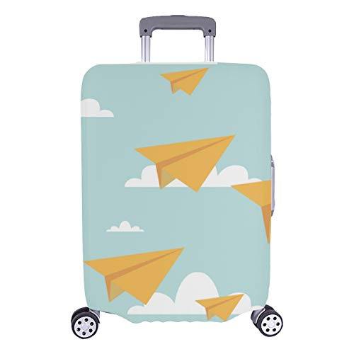 Best Luggage Cover Paper Plane Young Cute Durable Washable Protecor Cover Fits 28.5 X 20.5 Inch Luggage Cover Set Suitcases Protector Hard Cover Baggage