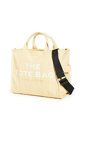 The Marc Jacobs Women's Small Traveler Tote, Cream, Off White, Yellow, Graphic, One Size