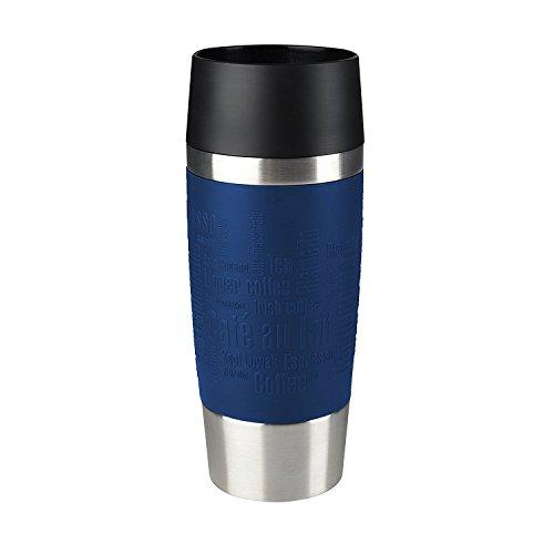 Emsa 513357 Travel Mug Bicchiere Termico con Chiusura Quick Press, Acciaio Inossidabile, Blu, 0,36 L