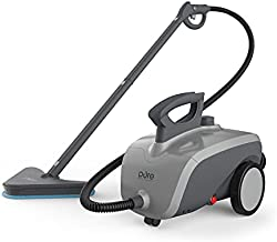 Pure Enrichment PureClean Steam Cleaner - 18-Piece Multi-Purpose Sanitizing System for Deep Cleaning Floors, Windows, Upholstered Furniture, BBQ Grills, Grout, Mattresses, Cars, and Toys