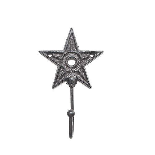 Ganchos para Abrigos Forma de Estrella Antiguo Chic Hierro Fundido Montado en la Pared Perchero Decoración para Colgar en la Pared Juego de 6 Ganchos de Pared Decorativos artesanales rústico