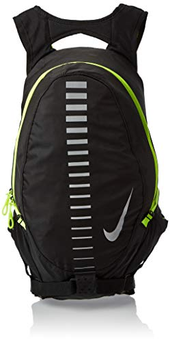 Nike Running Backpack, Black/Volt Green, medium