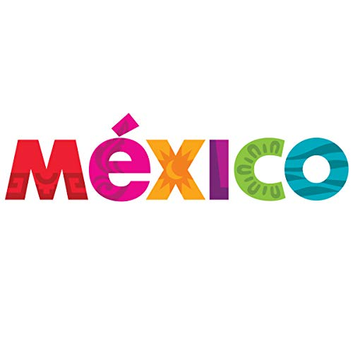 "MEXICO Aufkleber Calcomania Ventana Stoßstangenaufkleber 9\""x2.3\"" Full Color"
