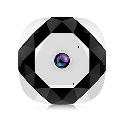 QAZPL Cámara de vigilancia, cámara de red de 360 ° panorámica inalámbrica de 980p, monitor remoto de teléfono móvil, intercomunicador de voz bidireccional, múltiples modos de visualización, comparti