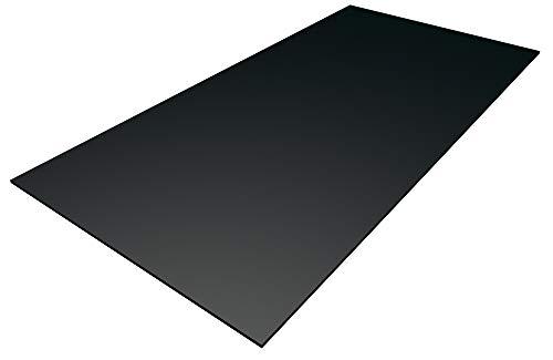Kunststoff Bastelplatten schwarz 1000 x 500 x 3 mm zum Basteln, für Modellbau, Möbelverblendung, Laubsägearbeiten, Schilder, Werbetafeln
