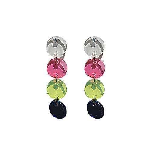 2020?new trend acryl gladde ronde kwast oorbellen eenvoudige mode stiksels oorbellen oorbellen