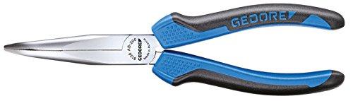 GEDORE Mechanikerzange 8136 AB-200 JC,200mm,2-Komponentengriff, Greifflächen kreuzgezahnt,flach-runde Backen, gewinkelte Form