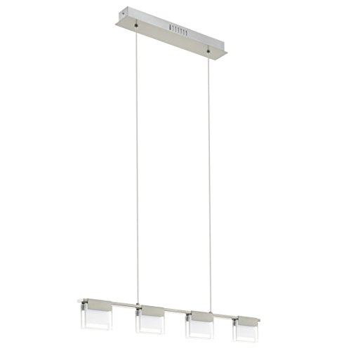 EGLO Led-Hängeleuchte Modell Clap 1/4, nickel matt/klar/satiniert 93731 E