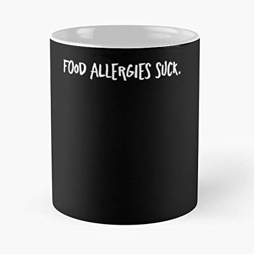 Argentwork Suck Food Disease Allergy Allergies Teal Awareness Best 11 oz Kaffeebecher - Nespresso Tassen Kaffee Motive