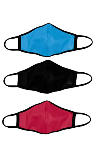 Pack Mascarillas de Tela Reutilizable Homologadas - Infantil Rojo/Negro/Azul