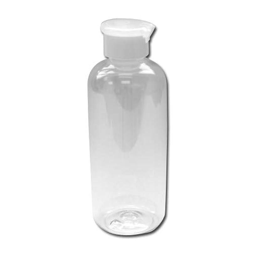 海藻動機デジタル詰め替え容器250ml 透明 PTワンタッチキャップ(白×半透明)│軽い 丈夫 シンプル ボディーソープ ローション等の詰替に 小分け 化粧品