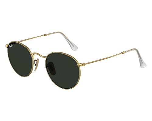 Ray Ban RB3447 ROUND METAL Sunglasses Color 001, Gold, 50 mm