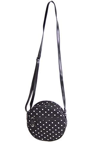 SugarShock Damen Handtasche Valmira Gingham rund, Farbe:schwarz rot