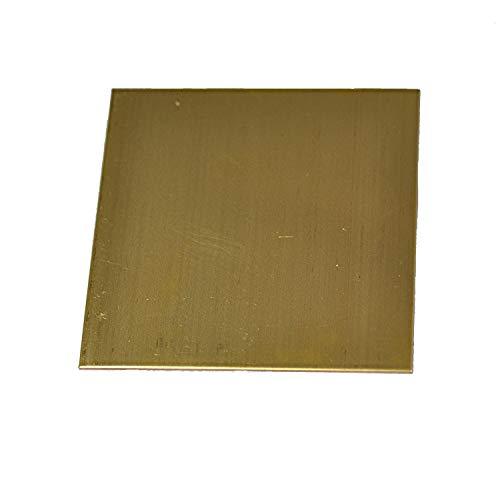 SOFIALXC Láminas de Cobre Materias primas de Metal de latón 300x300mm/11.8x11.8inch-Thickness: 0.5mm