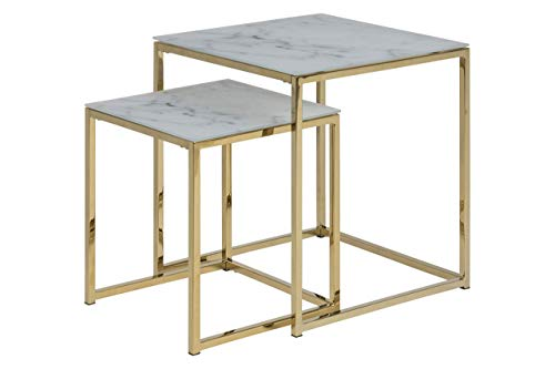 Amazon Brand - Movian Rom - Mesa de centro, 45 x 45 x 50 cm, blanco