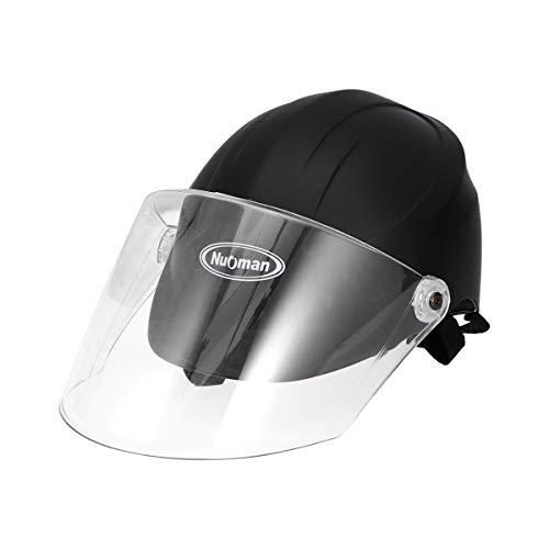 ABOOFAN Anti- quemaduras Ciclismo cabeza casco seguro Cap Motor accesorio para mujeres al aire libre Scooter Suministros con pantalla (negro)