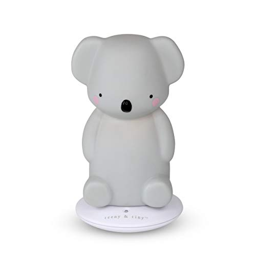 Animale a LED con Batterie Koala Teeny /& Tiny TA8KOLSG Luce Notturna Camera Neonati e Bambini in Silicone Morbido 200 g