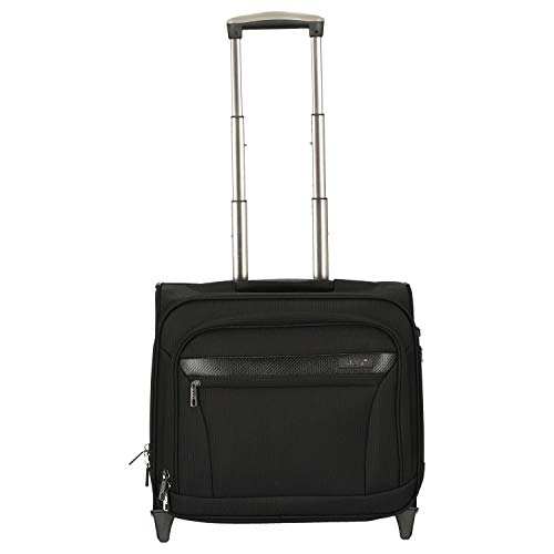 D & N Business & Travel 2-Rollen Businesstrolley 41 cm Laptopfach, Schwarz, 43 cm