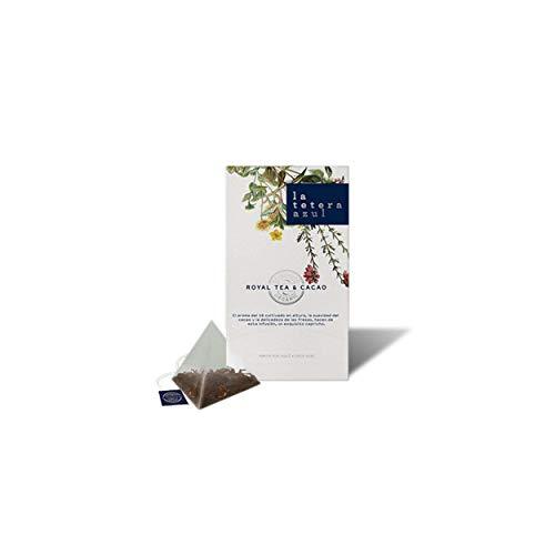 LA TETERA AZUL Infusion Ecologica De Te Negro Y Cacao. Infusion Organica En Piramides. Royal Tea & Cacao. 20 Piramides.