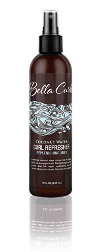 Bella Curls Acqua di cocco Replenishing Trattamento Mist, 8 once