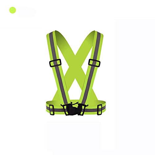 Warnweste Motorrad Reflektor Sicherheitsweste Unfallweste Sport Leuchtweste Neon (Grün)