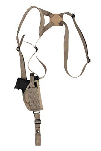 Barsony New Desert Sand Vertical Shoulder Holster for Springfield XDS 3.3in Right
