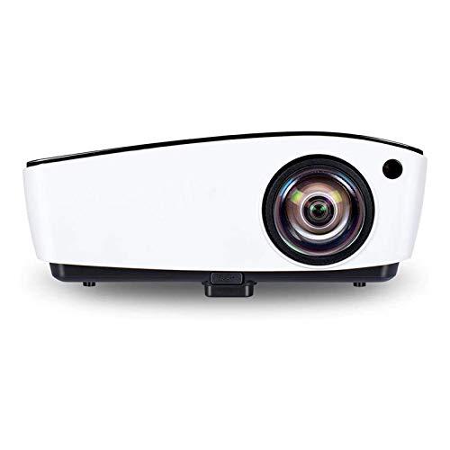 ZXNRTU Impresionante Calidad de Imagen Proyector de Video LCD Proyectores de Video Cinema LED Proyector de Video DLP Proyector for Oficina y Sala de Estar (Color : White, Size : One Size)