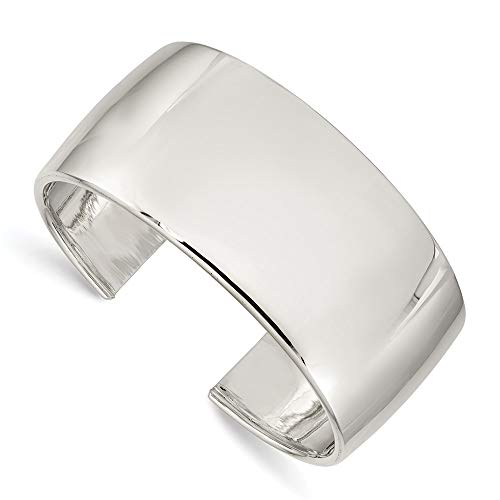 925 Sterling Silver 30mm Cuff Bangle Bracelet Expandable Stackable Fine Jewelry For Women Gifts For Her